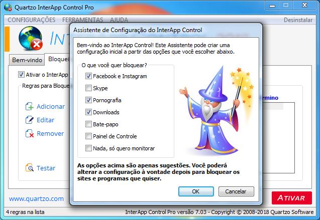 quartzo interapp control pro serial